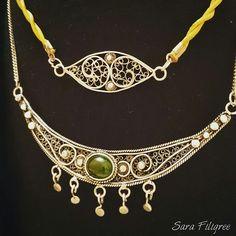 Handmade silver filigree necklaces...