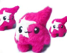 Fluse Kawaii Plush  Monster White Star Pink von Fluse123 auf Etsy, €22.00