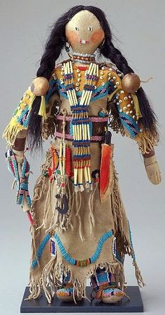 Female Doll, (Artist for this doll is Smoky Door.) Lakota (Sioux)).