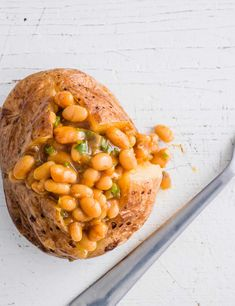 Masala Beans Potato This baked jacket potato uses masala beans as a filling for a quick and healthy snack. Use hot or mild curry powder for the filling depending on how much spice you like
