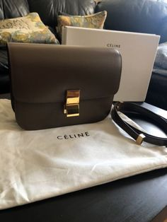 4e37797a40 Pre Owned Celine Medium Classic Box Bag Camel Brown W Strap ...
