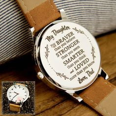 Son Quotes From Mom, Watch 2, Stronger Than You, Something Special, Beautiful Watches, My Baby Girl, Family Quotes, Laser Engraving, Anniversary Gifts