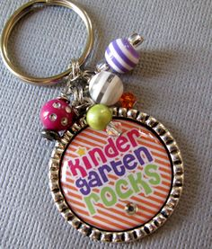 Grade Rocks Backpack Tag/ Necklace - Back To School, Teacher Gift, Kindergarten Rocks, Christmas Gift,Teacher Appreciation. $15.00, via Etsy.