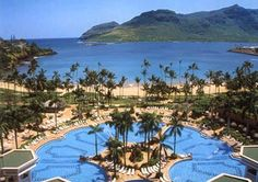 Westin Kauai - now Kauai Marriott Resort... This was the view from our hotel balcony. Paradise, plain and simple.