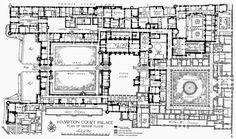 Plan 1: Hampton Court Palace Ground Floor | British History Online