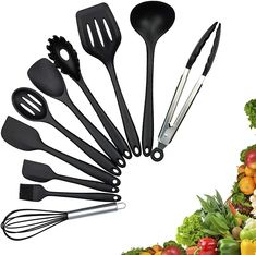 Silicone Kitchen Utensils, Cooking Utensils Set, Kitchen Utensil Set, Quality Kitchens, Base Foods, Types Of Food, Food Grade, Black Food, Cleaning