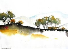 Little Arroyo - Original Watercolor Painting - contemporary - originals and limited editions - Charles Ash