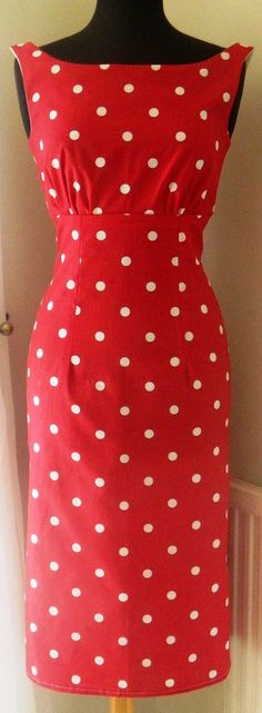 Hand Made Vintage/50s/Rockabily Style Wiggle Dress, UK size 12. £60.00, via Etsy.