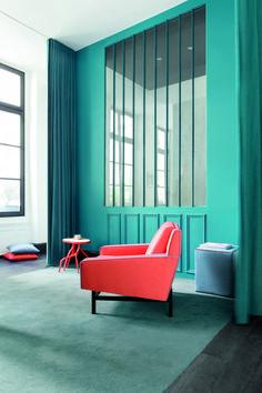 Wallpaper Decor, Fabric Wallpaper, Casamance, Holland, Curtains, Room Decor, Chair, Furniture, Fabrics
