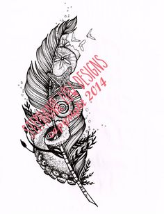 Tattoo Design SALE PRICE as is Fantastic Oceanic by SlowDesigns