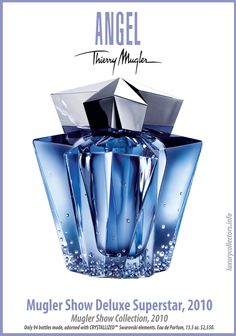Thierry Mugler Angel 20 Years Perfume Collector's Limited Edition Bottle 2010 Show Deluxe Superstar