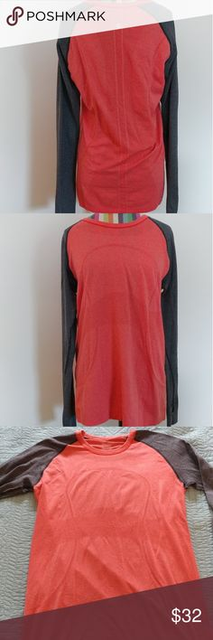 Lululemon long sleeve shirt Lululemon Athletica active long sleeve shirt. Size 8. Used and in good condition. Has thumb cut outs, so stains or snags lululemon athletica Tops Tees - Long Sleeve