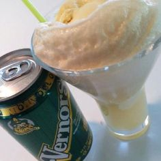 Famous Boston Cooler with Detroit made Vernor's ginger ale and ice cream. Fabulous