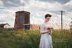 Edmonton Vintage Wedding Shoot, with trains #Bouquet #Bride #wedding #vintage #train #edmonton #GHPhotography #GH #Photography