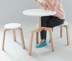 Takka was designed by Agnieszka Mazur and is a clever set of multifunctional furniture that was made for small dwellings.