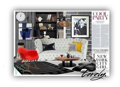 """""""In the City: Modern&Comfy Room"""" by agibevan ❤ liked on Polyvore featuring interior, interiors, interior design, home, home decor, interior decorating, Ballard Designs, Haute House, Universal Lighting and Decor and Leonardo"""