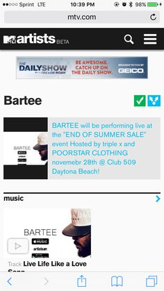 Nue Avenue Records artist Bartee on MTV