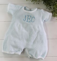 New Baby Boy Blue White Sailor Suit Outfit Rock a Bye 5 Pc Clothes Gift Set NB-6