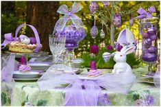 Lavender Easter table