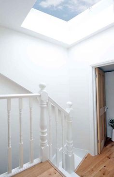 South London Lofts - Stair (white) painted, all of top floor laminate