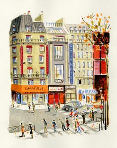 """Place Pigalle"" by Dominique Corbasson"