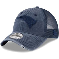 bbea2a8d6c7 Men s New England Patriots New Era Navy Tonal Washed Trucker 9TWENTY  Adjustable Snapback Hat
