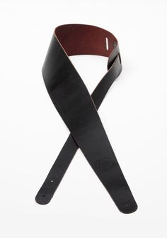 """3"""" Tapered Leather Guitar Strap"""