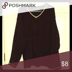 PJ Mark Sweater Sweater. Super Soft Brown - L PJ Mark Sweater Sweater. Super Soft Brown with Cream stripe detail at the neck and cuff. PJ Mark Sweaters V-Neck