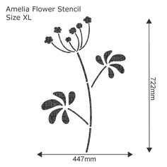Amelia Flower Stencil - Reusable large wall stencil, perfect for decorating projects. See more large flower wall stencils at The Stencil Studio