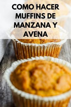 Discover recipes, home ideas, style inspiration and other ideas to try. Mini Desserts, Healthy Desserts, Healthy Cooking, Banana Oatmeal Muffins, Chocolate Chip Muffins, Carrot Muffins, Mini Muffins, Easy Cake Recipes, Sweet Recipes