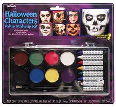 Halloween Brand New 4 Face Paints /& Sponge Mini Make Up Kit