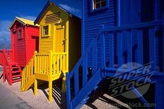 Victorian Changing Houses Near Capetown - primary colours
