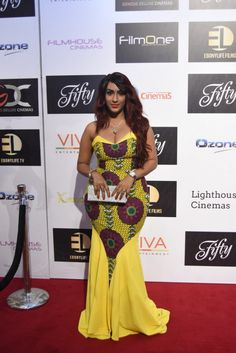 Celebrity Look At The Red Carpet Of Fifty The Movie Premiere - Select A Fashion Style African Wedding Attire, African Attire, African Wear, African Women, African Dress, African Shop, African Style, African Fashion Ankara, African Inspired Fashion
