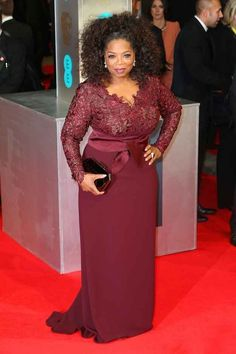 Oprah Winfrey. | All The Fashion At The 2014 BAFTAs