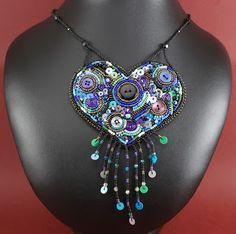 Beady Heart necklace