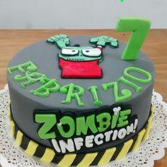 Torta oti Boy Birthday Parties, Birthday Cake, Plantas Versus Zombies, Zombie Party, Party Cakes, Cupcakes, Candy, Desserts, Food