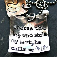 There's This Boy Who Stole My Heart Necklace $70.00 Find it here: http://www.wholesouljewelry.com/theres-this-boy-who-stole-my-heart-necklace/