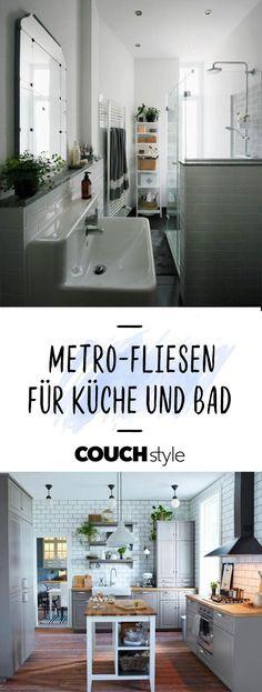 Wir Zeigen Dir Die Schönsten Einrichtungsideen Mit Metrofliesen Für Bad Und  Küche. #living #