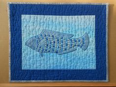 Sheena J.NORQUAY - Something Fishy Ocean Quilt, Free Motion Quilting, Under The Sea, Seaside, Workshop, 3d, Quilts, City, Beach