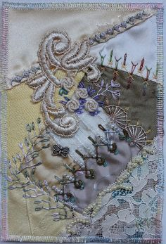 I ❤ crazy quilting . . . Birthdaycard for Helinä, By peltolaritva