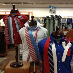 Men's tie display