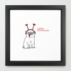 Just the Way I Am Framed Art Print by gemma correll - $35.00