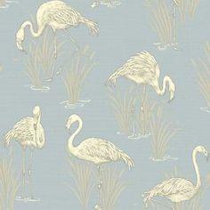 Vintage-Lagon-Flamant-Rose-Papier-Peint-Bleu-clair-ARTHOUSE-252605-nouveau