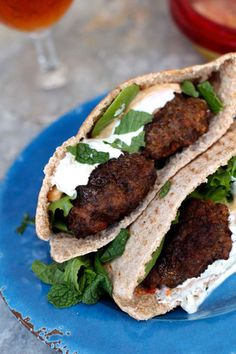 Greek Lamb Pita Sandwiches -  perfect if you're serving lamb for Easter and wondering what to do with the leftovers! |  #lamb #easter  | See this and other delicious recipes at theseasidebaker.com