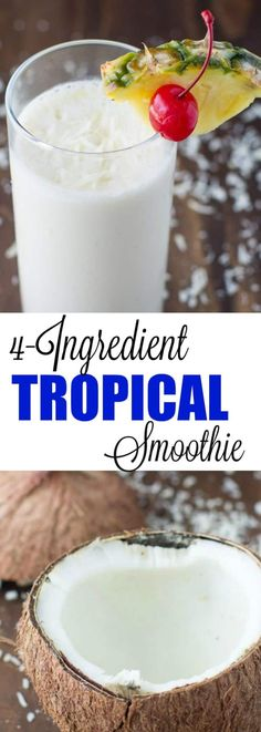 Start your day with a taste of the tropics: Greek yogurt, coconut water, pineapple, and banana blended to sweet Tropical Smoothie perfection!