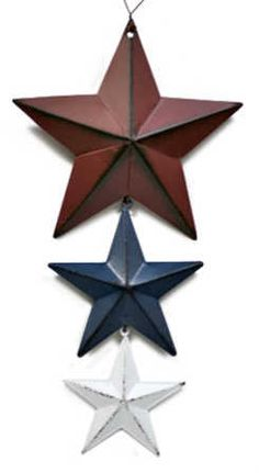americana decor | Americana Metal Stars Vertical Hanging Ornament - Wall Decor - Home ...