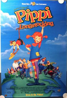 For The Kids Room - PIPPI LONGSTOCKING 1997 VIDEO Poster ROLLED #Animation #MoviePoster   http://stores.ebay.com/AwesomeBMovies