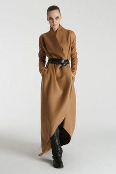 Floor-length coat