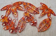 Set of 7 Fall / Autumn Leaves hanging decorations by VBPureDesigns, $32.20
