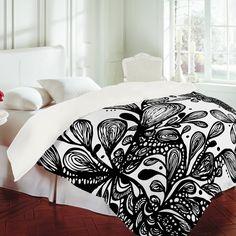DENY Designs Home Accessories | Julia Da Rocha Wild Leaves Duvet Cover
